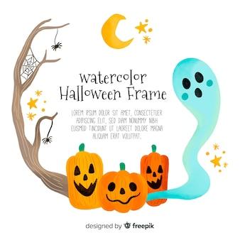 Reizender Hand gezeichneter Halloween-Hintergrund