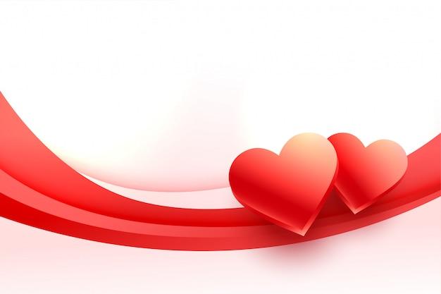 Reizender hintergrund der herzen 3d für valentinstag