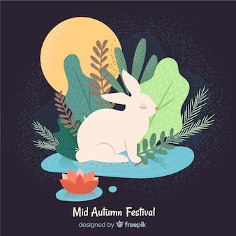 Reizender mittlerer herbstfestivalhintergrund