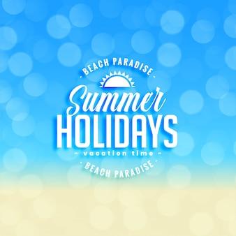 Reizender sommerferienhintergrund mit bokeh effekt