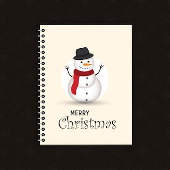 Reizender weihnachtsschneemann- und weihnachtsmannhintergrund mit flachem design