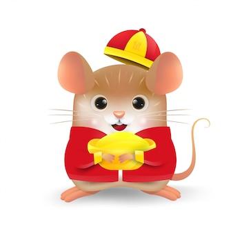 Reizendes kleines ratten-chinesisches neujahrsfest