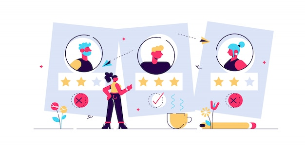 Rekrutierung ageism illustration.