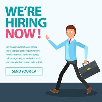 Rekrutierung mitarbeiter poster design-serie