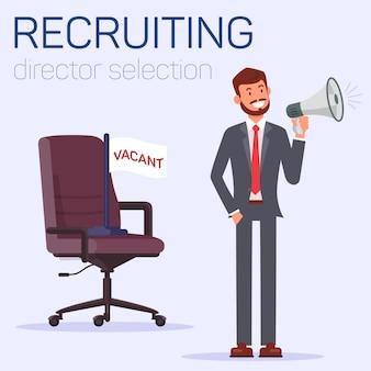 Rekrutierung und auswahl von direktoren, position als chef