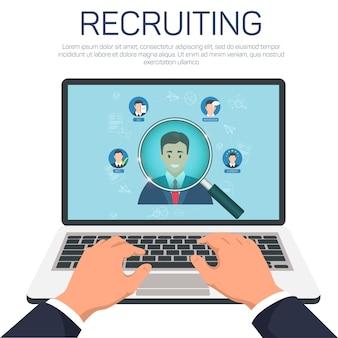 Rekrutierung und suche nach dem besten kandidaten-banner