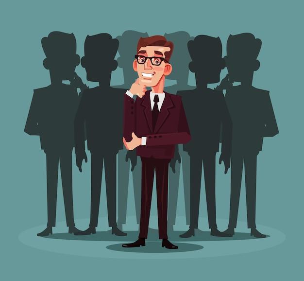 Rekrutierung von unternehmen. cartoon-illustration