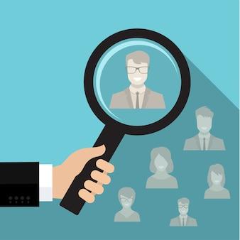 Rekrutierungs- oder auswahlkonzept