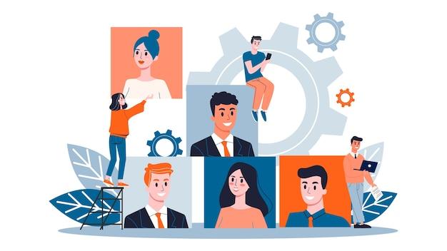 Rekrutierungskonzept. idee von beschäftigung und mensch
