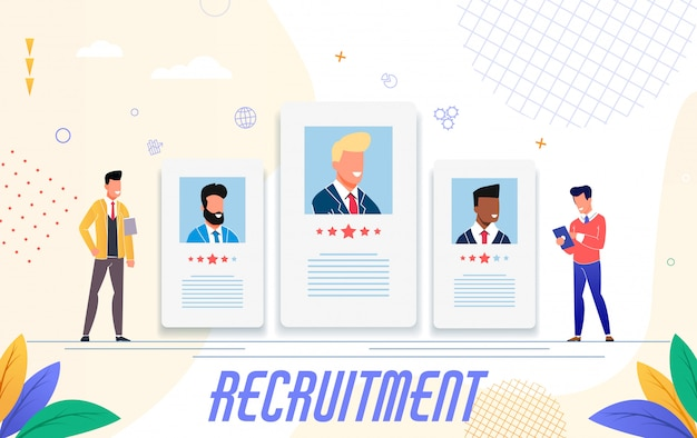 Rekrutierungswerbung, flaches design