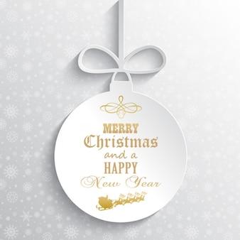 Relief white christmas ball hintergrund