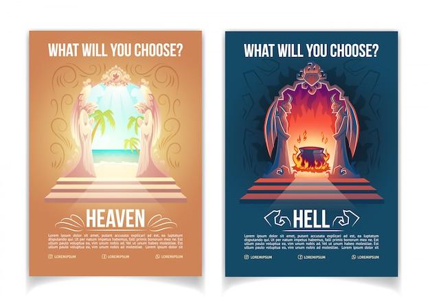 Religiöse bewegung, christentumskirche oder unterrichtende karikatur