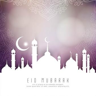 Religiöser islamischer eid mubarak-hintergrund