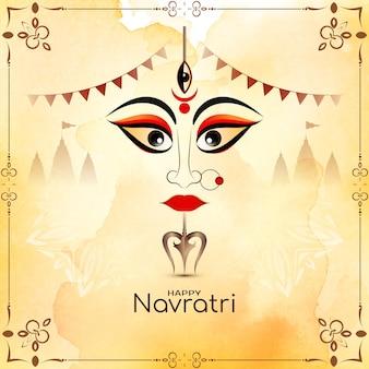 Religiöses hinduistisches festival glücklicher navratri traditioneller hintergrundvektor