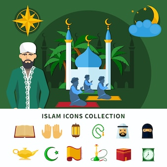 Religionen icon set