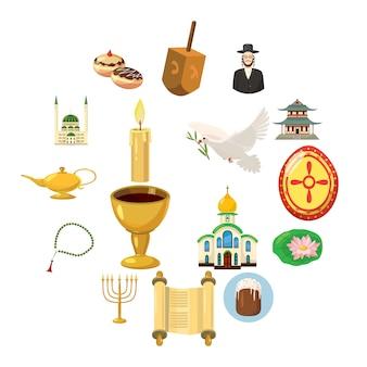 Religionsikonen eingestellt, karikaturart