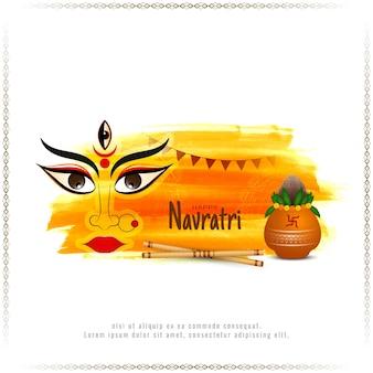 Religiuos happy navratri hindu festival ethnischer hintergrundvektor