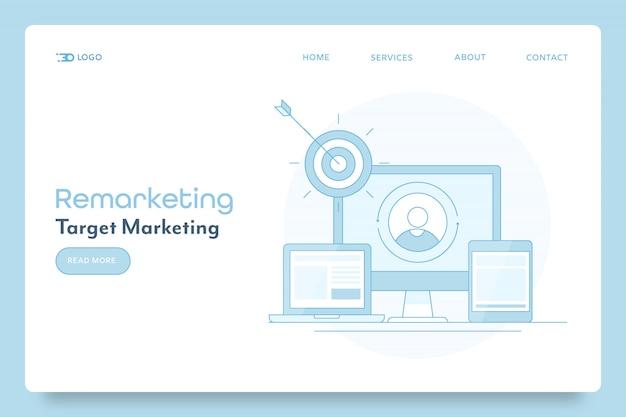 Remarketing-strategie für business-kampagnen-banner
