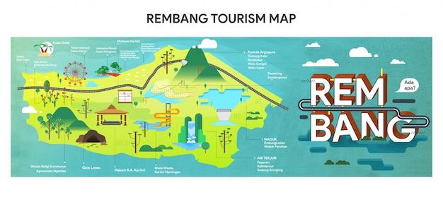 Rembang tourismus-karte