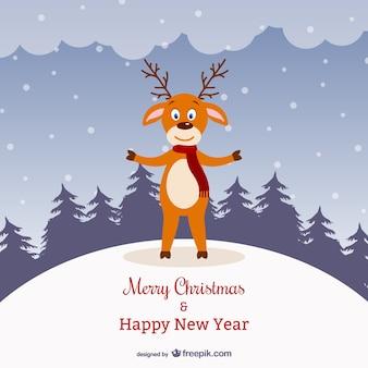 Ren-weihnachtskarte