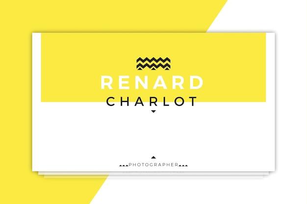 Renard charlot geschäftskarte-schablone