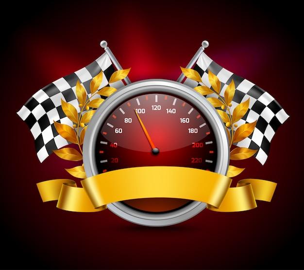 Rennen emblem realistisch