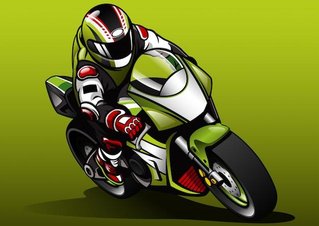 Rennfahrer fahren sportbike