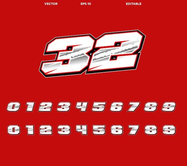 Rennnummer design motorcross aufkleber