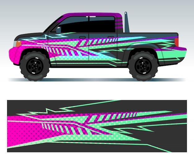 Rennwagen-aufkleber. sport fahrzeug vinyl aufkleber set