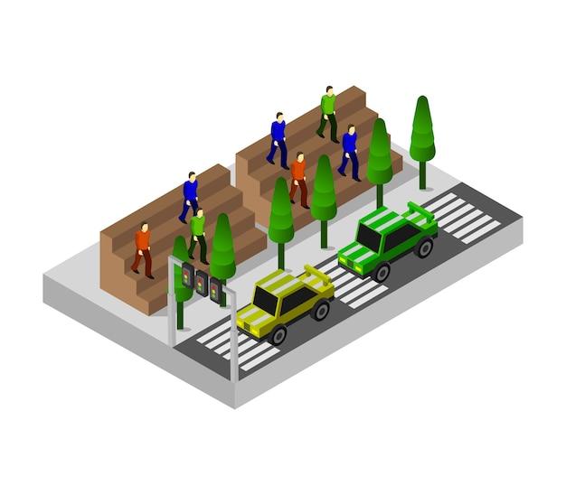 Rennwagen isometrisch