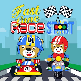 Rennwagen kinder cartoon