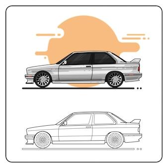 Rennwagen leicht editierbar