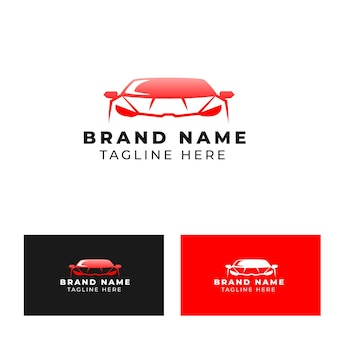 Rennwagen-vorderansicht-logo