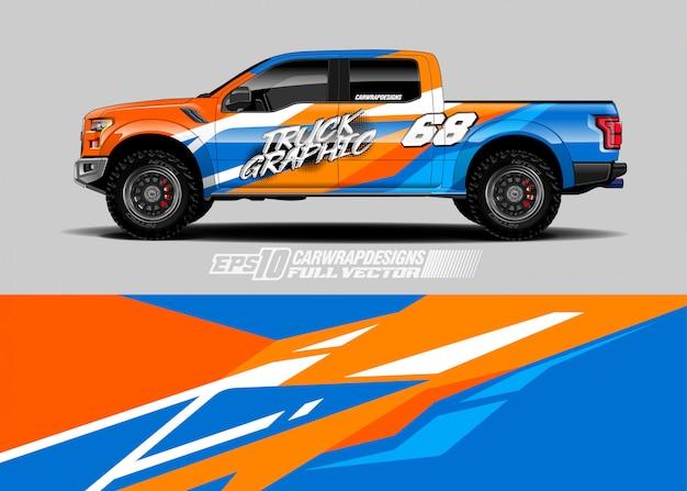 Rennwagen wrap aufkleber designs