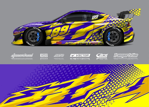 Rennwagen wrap decal designs