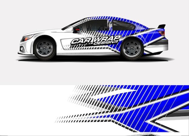 Rennwagen-wrap-design. fahrzeug-vinyl-aufkleber und autolack-lackierung