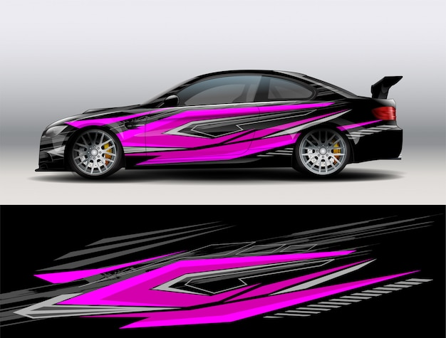 Rennwagen wrap design vektor