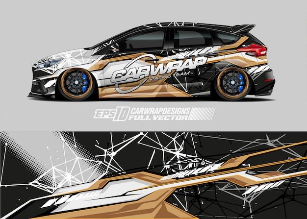 Rennwagen-wrap-design