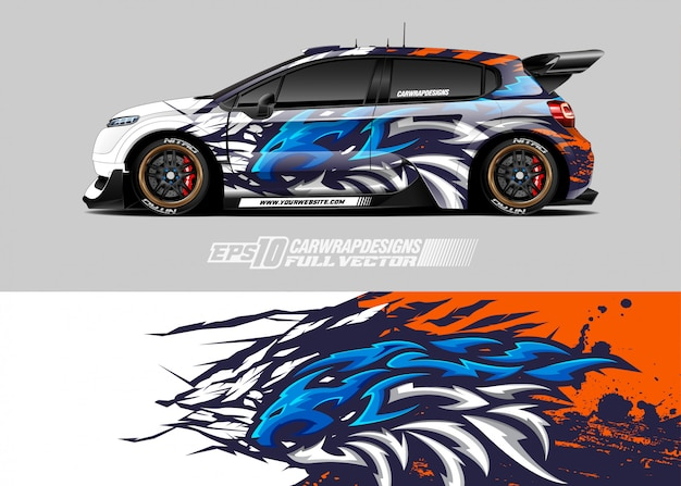 Rennwagen wrap designs