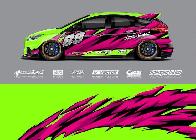 Rennwagen wrap illustrationen