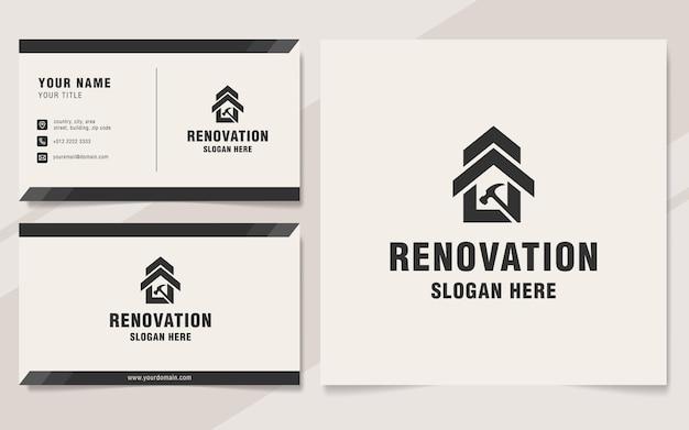 Renovierungshaus logo vorlage monogramm stil
