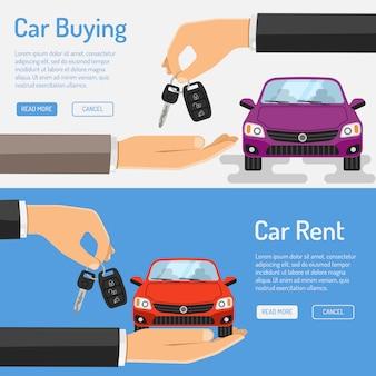 Rent und buying car banner