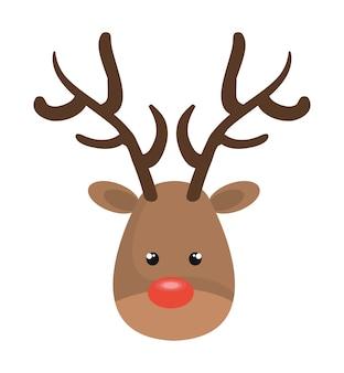 Rentier weihnachten charakter symbol