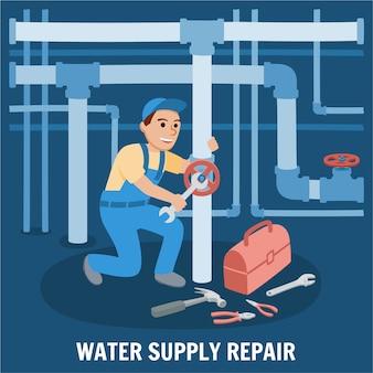 Reparatur der wasserversorgung