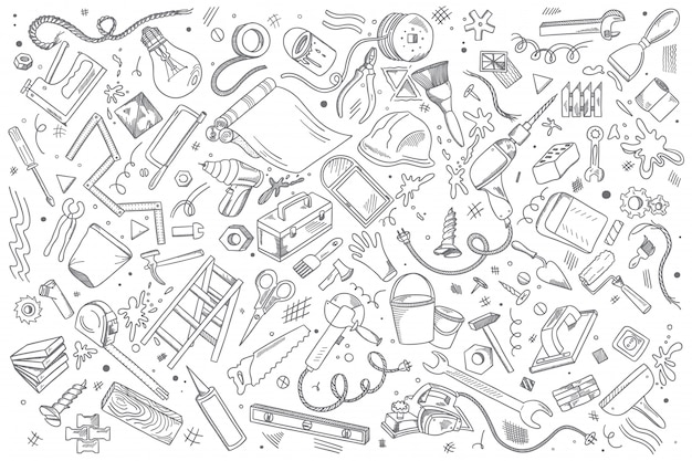 Reparatur-doodle-set