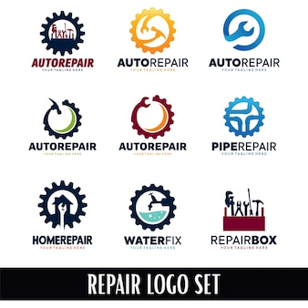 Reparatur logo designs sammlung