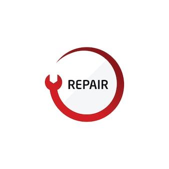 Reparatur-logo kfz-service-center-symbol