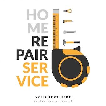 Reparatur-service-vorlage für zuhause