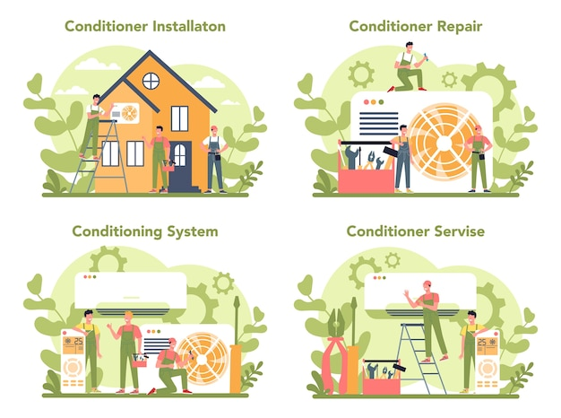 Reparatursatz für reparatur und installation von klimaanlagen