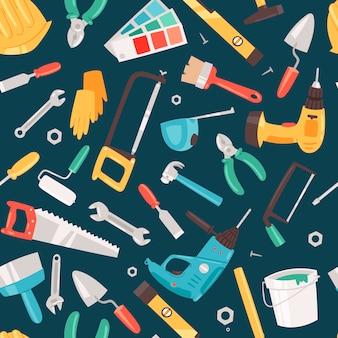 Reparieren sie nahtloses muster des werkzeugservices